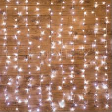 Гирлянда Светодиодный Дождь  2,5x2м, свечение с динамикой, прозрачный провод, 230 В, диоды БЕЛЫЕ