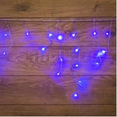 Гирлянда Айсикл (бахрома) светодиодный, 1,8 х 0,5 м, прозрачный провод, 220В, диоды синие
