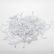Гирлянда Айсикл (бахрома) светодиодный, 2,4 х 0,6 м, белый провод, 220В, диоды белые