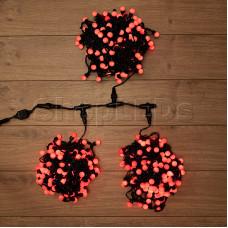 """Гирлянда """"LED ClipLight - ШАРИКИ"""" 24V, 3 нити по 20 метров, КРАСНЫЕ светодиоды, IP54"""