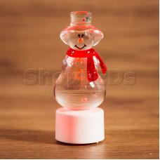 """Фигура светодиодная на подставке """"Снеговик с шарфом"""", RGB"""