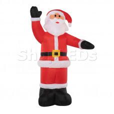 """3D фигура надувная """"Дед Мороз приветствует"""", размер 150 см, внутренняя подсветка 4 лампы, компрессор с адаптером 12В, IP 44 NEON-NIGHT"""
