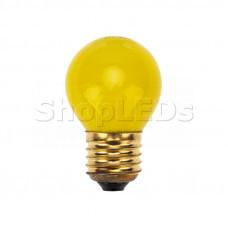 Лампа накаливания e27 10 Вт желтая колба