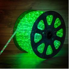 Дюралайт LED, постоянное свечение (2W) - зеленый, бухта 100м