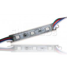 Светодиодный модуль герметичный SL-5050-3 LED, RGB (0.75W, 12V)