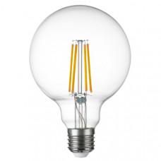 933102 Лампа LED FILAMENT 220V G95 E27 8W=80W 720LM 360G CL 3000K 30000H (в комплекте)