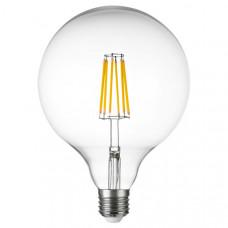 933202 Лампа LED FILAMENT 220V G125 E27 10W=100W 920LM 360G CL 3000K 30000H (в комплекте)